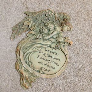 Resin Angel Wall Hanging Echoes of Mercy